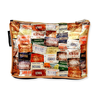 "TRAVEL PLATES COSMETIC BAG | 10"" x 2"" x 6.5"""