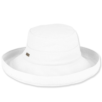 WHITE, COTTON UP BRIM HAT BRIM 4.5""