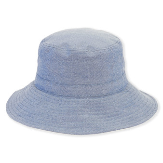 COTTON HAT W/DRAWSTRNG TRIM  BRIM 3""