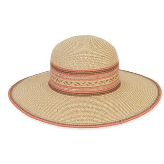 TWEED HAT W/CONTRASTING COLOR CROWN TRIM/BRIM EDGE