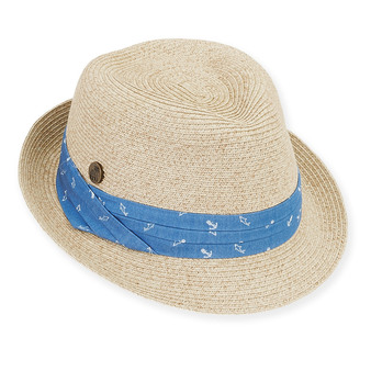 NATURAL, HAT W/TRIM PLEATED COTTON, BRIM 2""
