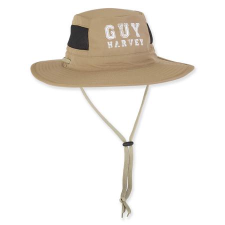 686dd53cbb9f4 GUY HARVEY POLY HAT W SIZER   DRAWST CHIN CORD - Sun  N  Sand ...
