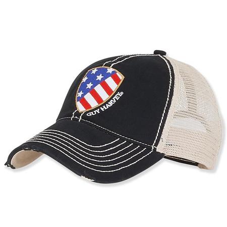 6937f8a9335 Guy Harvey COTTON TRUCKER HAT W U.S. FLAG PATCH - Sun  N  Sand ...