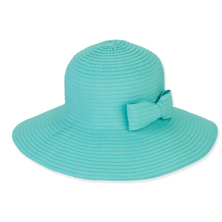 FOLDABLE HAT W BOW TRIM - Sun  N  Sand Accessories fe24440a863