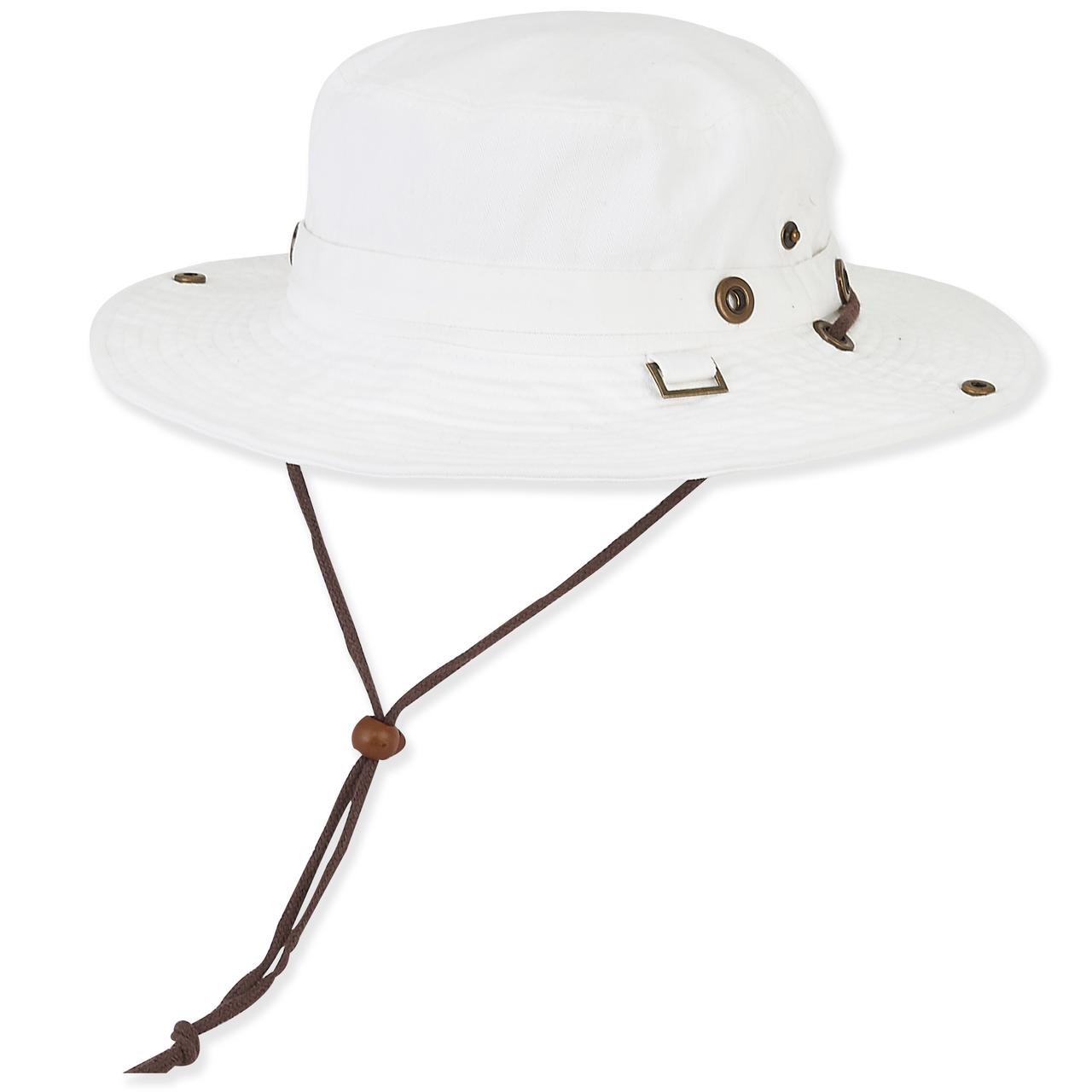 0cd0df68 COTTON HAT W/SELF TRIM & CHIN CORD - Sun 'N' Sand Accessories