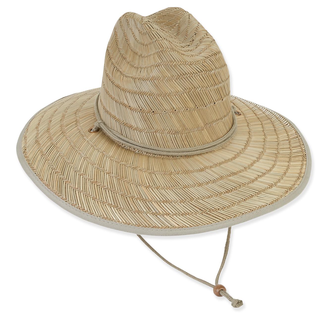 Lifeguard Rush Straw W Cotton Brim Amp Under Brim Chin Cord Sun N Sand Accessories