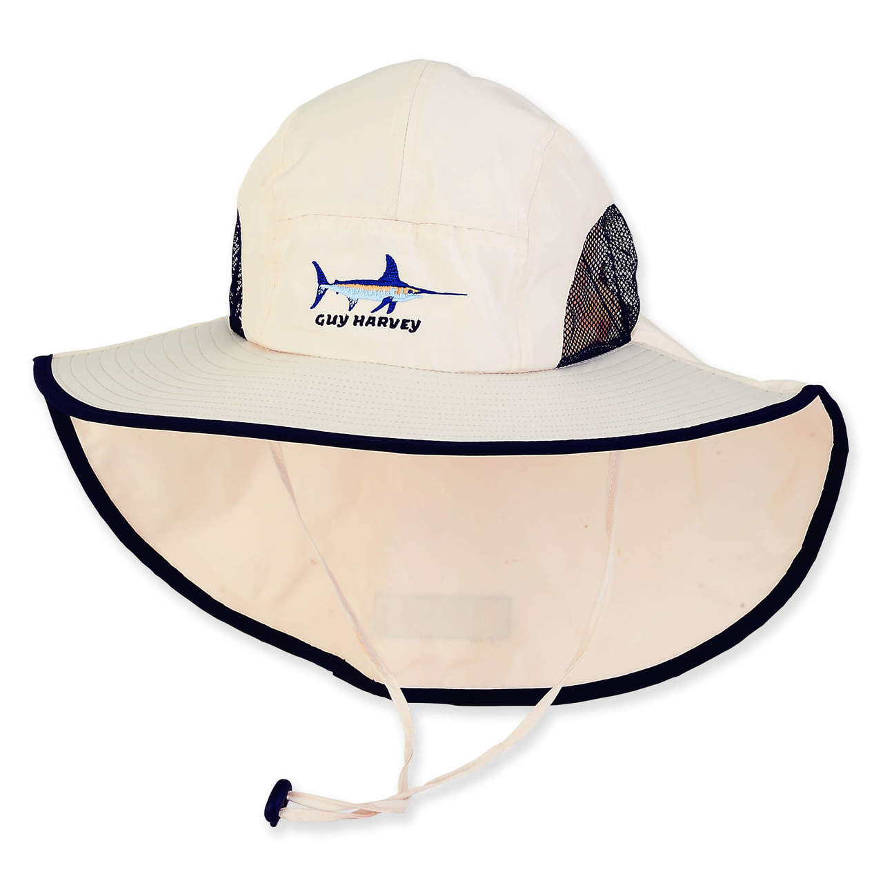 873fc2ddc5c72 GUY HARVEY BREATHABLE NYLON HAT W SIZER   MARLIN - Sun  N  Sand ...