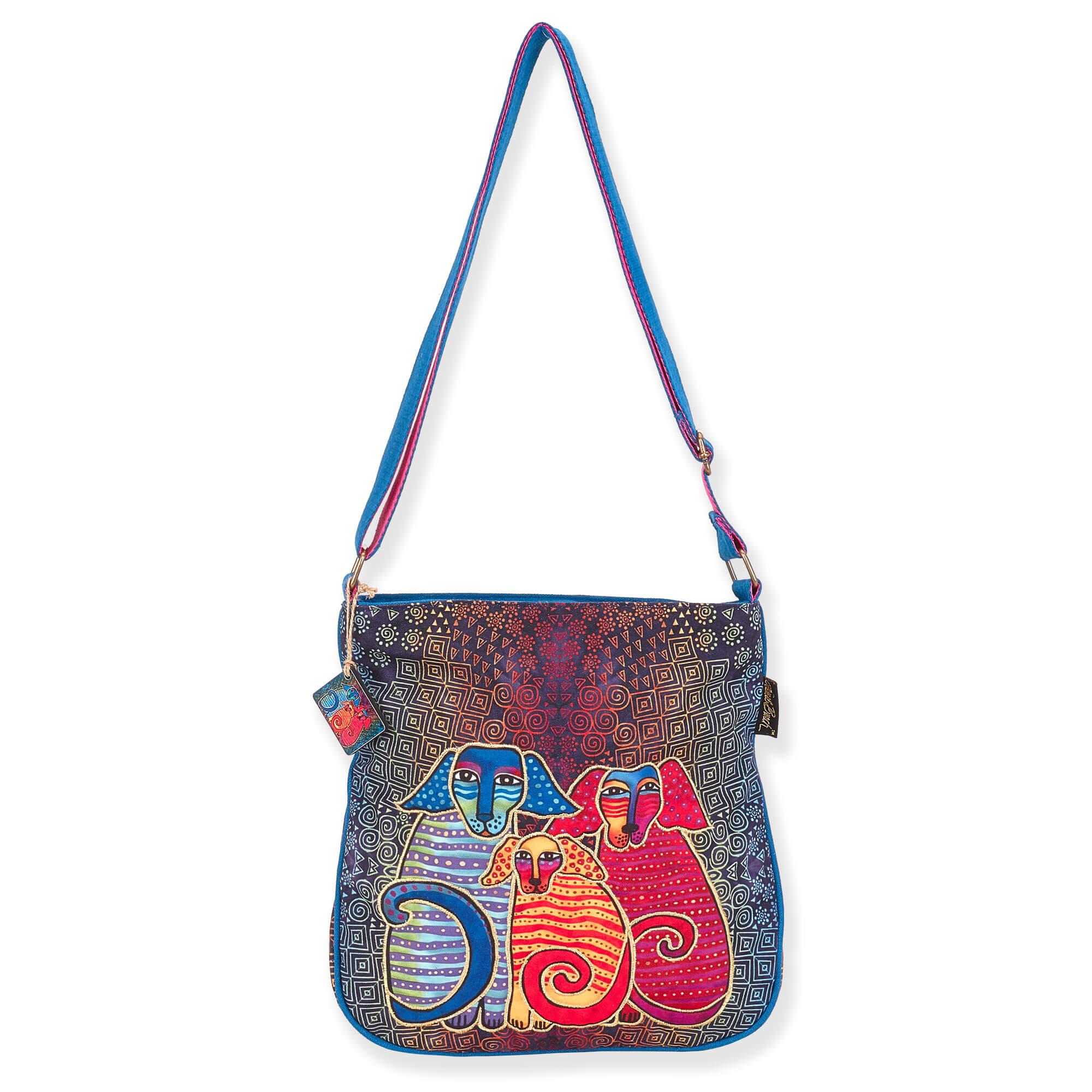 Laurel Burch Canine Family Hobo Bag