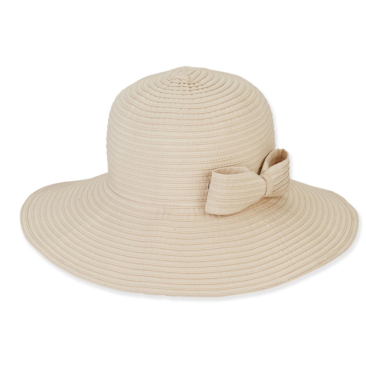 38900dff98623b FOLDABLE HAT W/BOW TRIM - Sun 'N' Sand Accessories