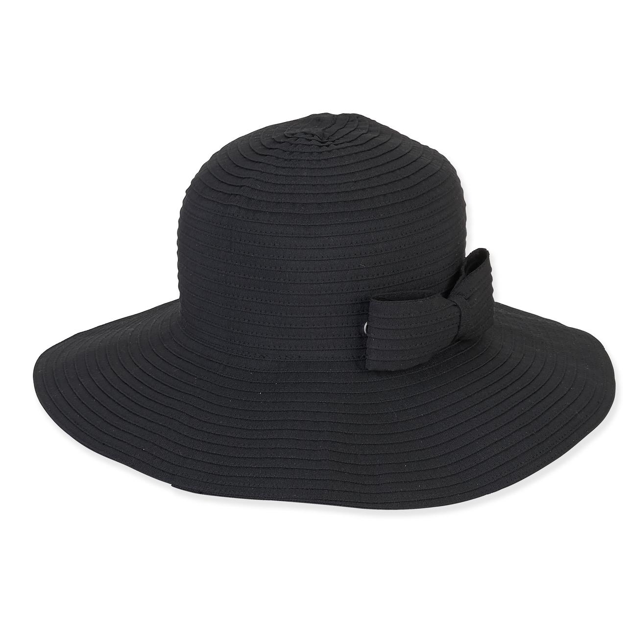 b90040fb FOLDABLE HAT W/BOW TRIM - Sun 'N' Sand Accessories