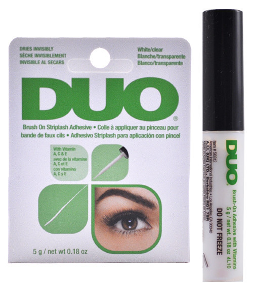 4efe23a869c DUO 2-in-1 Brush-on Strip Lash Adhesive White to Clear + Dark Tone ...