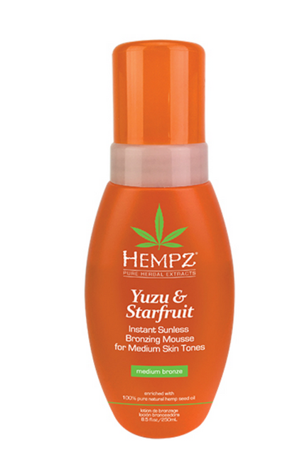Hempz Yuzu & Starfruit Instant Sunless Bronzing Mousse for Medium Tones
