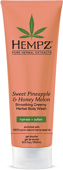 Hempz Sweet Pineapple & Honey Melon Smoothing Creamy Herbal Body Wash