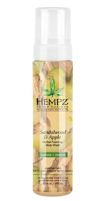 Hempz Sandalwood and Apple Herbal Foaming Body Wash