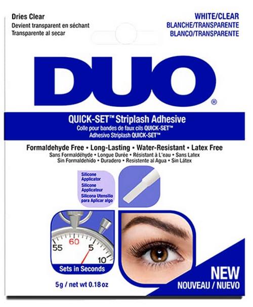 DUO Quick Set Latex Free Strip Eyelash Adhesive White to Clear