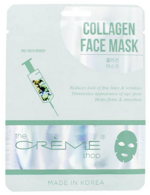 The Crème Shop Collagen Face Mask - Pro Youth Remedy Facial Sheet Mask