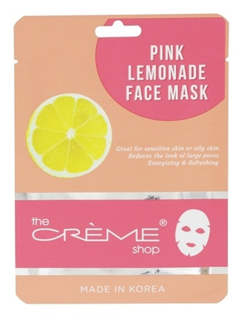 The Crème Shop Pink Lemonade Mask - Rejuvenating Facial Sheet Mask