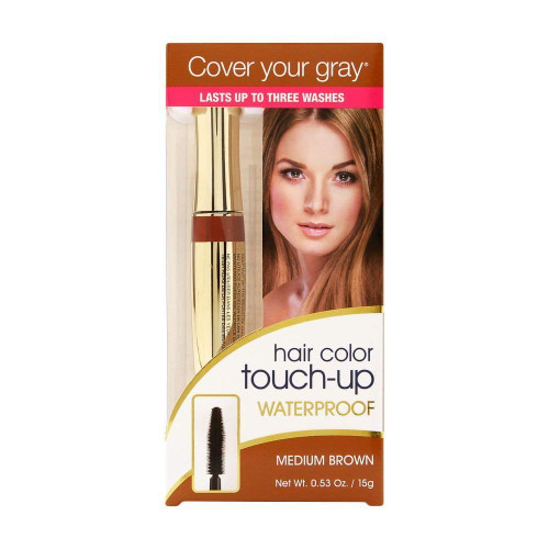 Irene Gari Cover Your Gray Waterproof Brush-In Hair Color Touch Up Wand