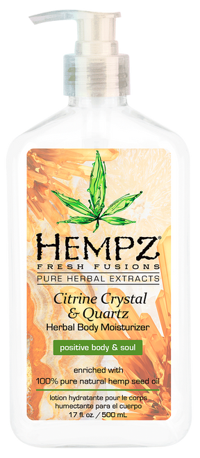 Hempz Fresh Fusions Citrine Crystal and Quartz Herbal Body Moisturizer