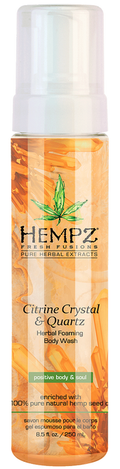 Hempz Fresh Fusions Citrine Crystal and Quartz Herbal Foaming Body Wash