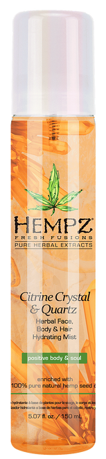 Hempz Fresh Fusions Citrine Crystal and Quartz Herbal Face, Body and Hair Hydrating Mist