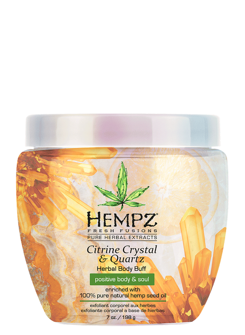 Hempz Fresh Fusions Citrine Crystal and Quartz Herbal Body Buff