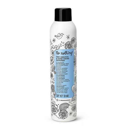 No Nothing Very Sensitive Fragrance Free Super Strong Hold Hairspray