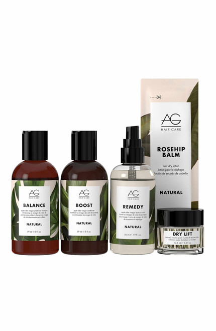 AG Natural Healthy Hair Care Starter Kit unpacked