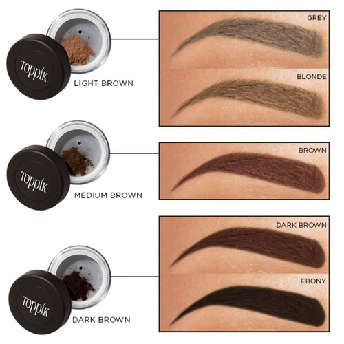 Toppik Eyebrow Fiber Shade Chart