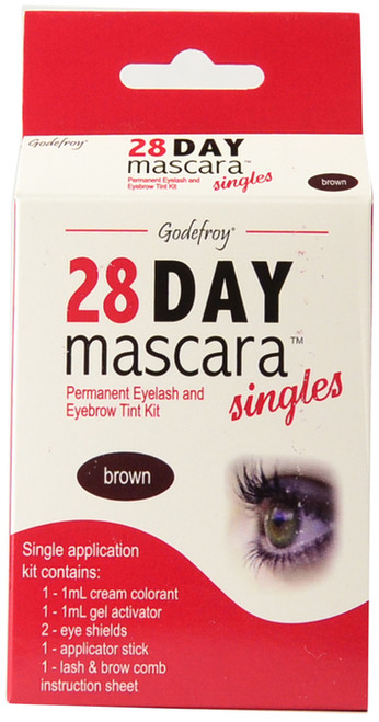 Godefroy 28 Day Mascara Lash and Brow Tint in Brown Single Application