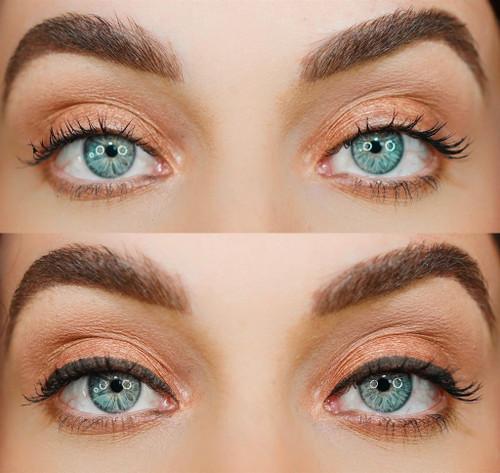 blinc Gel Eyeliner matte finish look