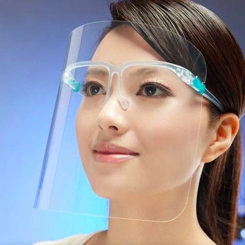 DSJ Splash Protection Face Shield with Rim Glasses