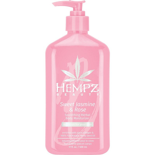 Hempz Sweet Jasmine & Rose Collagen Infused Herbal Body Moisturizer 17 oz