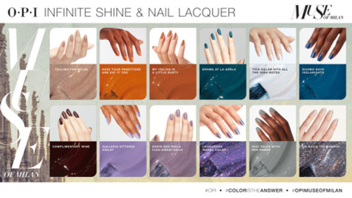 OPI Infinite Shine 2 Nail Lacquer Muse of Milan Collection swatches