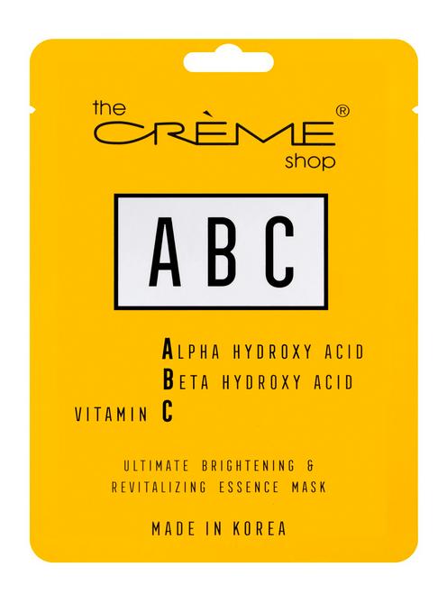 The Crème Shop ABC (AHA BHA Vitamin C) Facial Sheet Mask