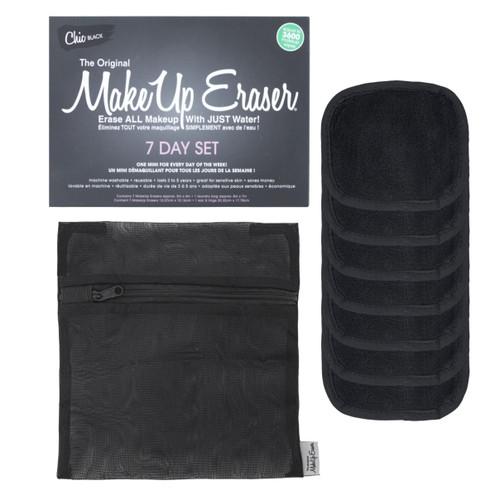 MakeUp Eraser 7 Day Washable & Reusable Makeup Removing Cloths Black