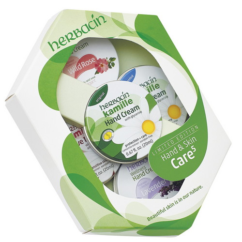 Herbacin Kamille Hand & Skin Care 5 Tin Gift Set