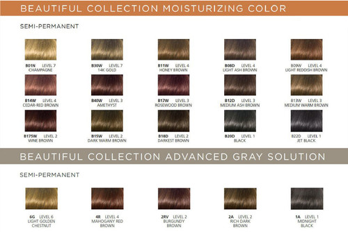 Clairol Professional Beautiful Collection Chart