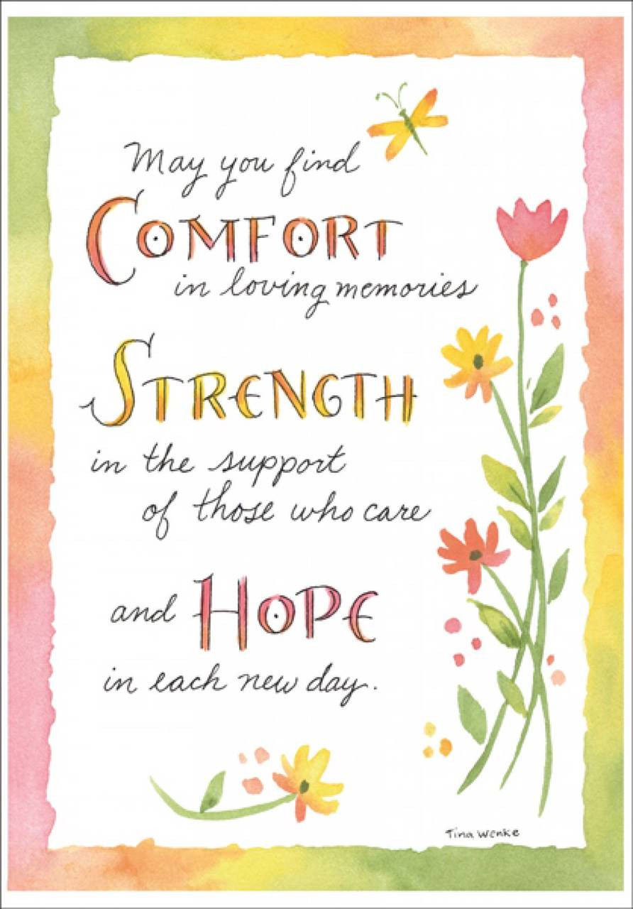Comfort, Strength, Hope, Sympathy Card-SU215 - shopittakestwo