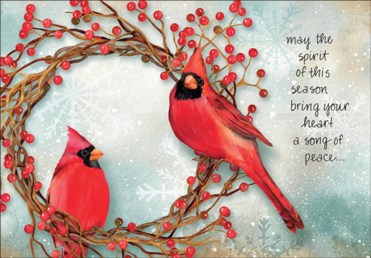 Christmas Cardinals Images.5x7 Red Cardinal Christmas Cards C1707
