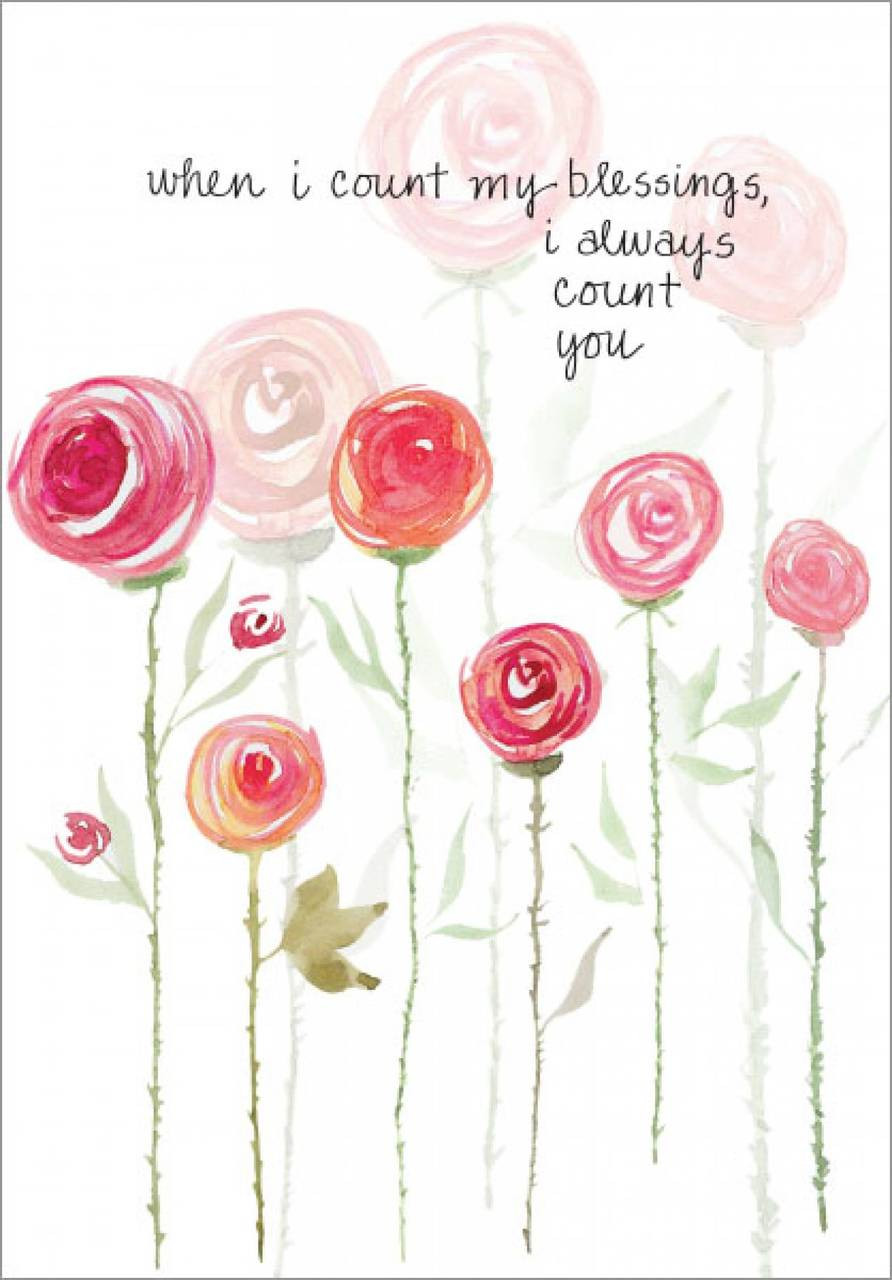 Simple Roses Birthday Card