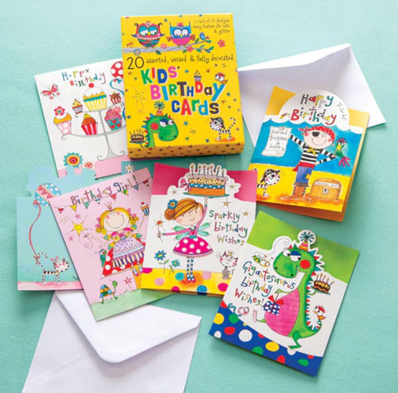 Enjoyable Kids Birthday Card Assortment Hjba21927 Shopittakestwo Personalised Birthday Cards Paralily Jamesorg