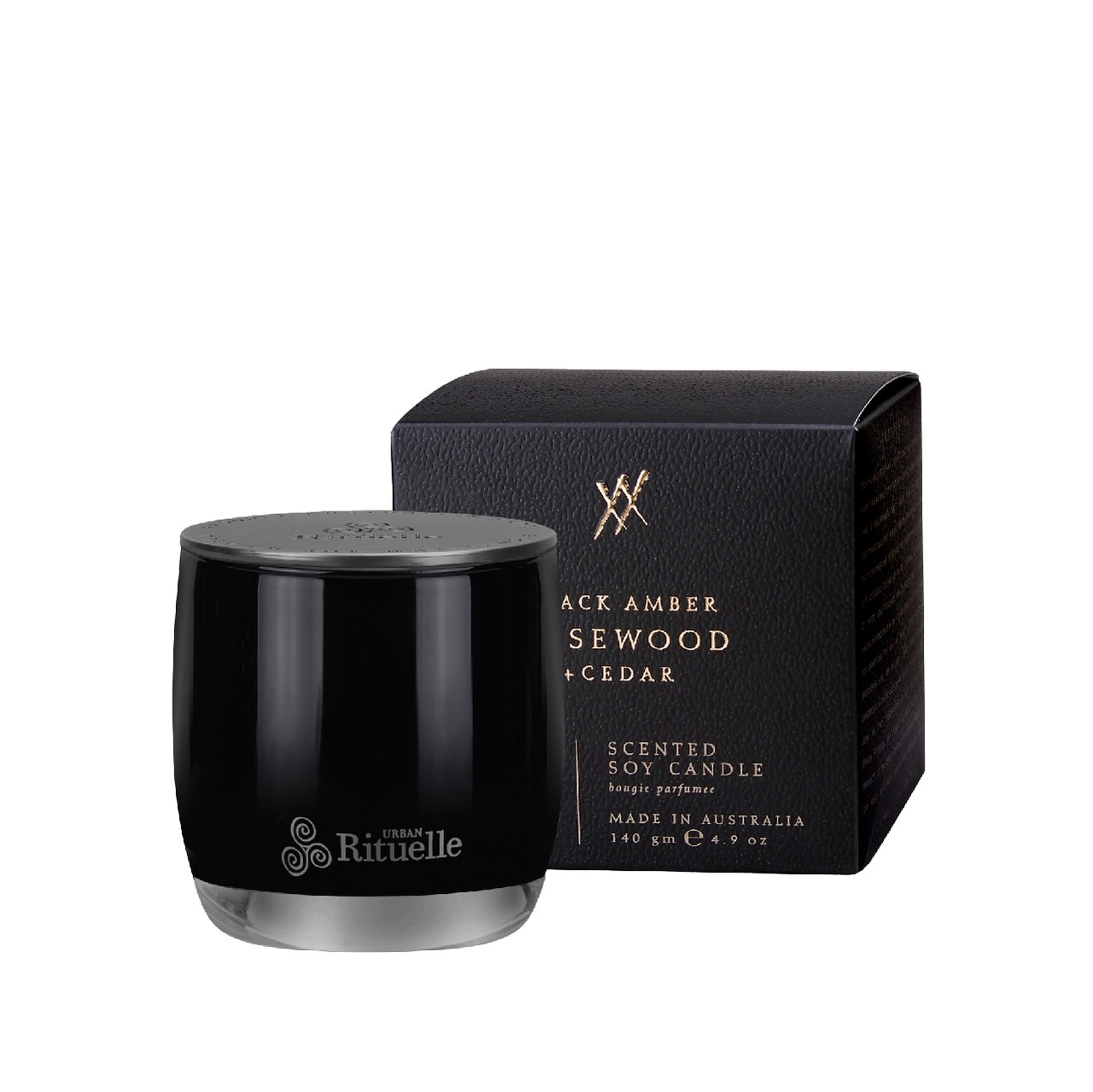 Alchemy - Black Amber, Rosewood & Cedar - Scented Soy Candle - Urban Rituelle