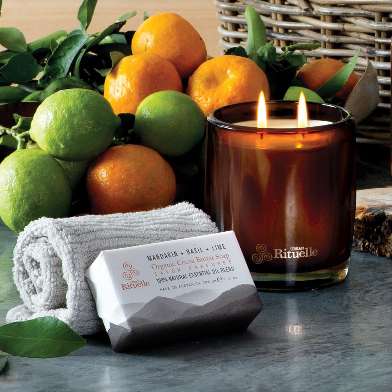 Equilibrium - Organic Cocoa Butter Soap - Mandarin, Basil & Lime - Urban Rituelle