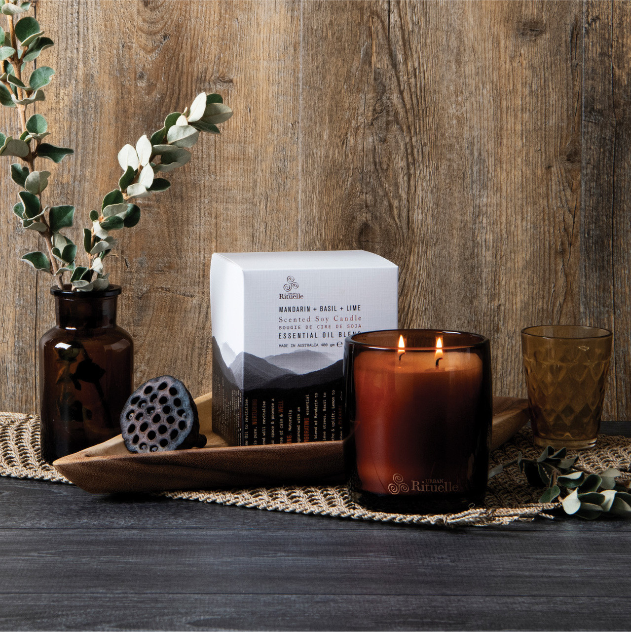 Equilibrium - Scented Soy Candle - Mandarin, Basil & Lime - Urban Rituelle