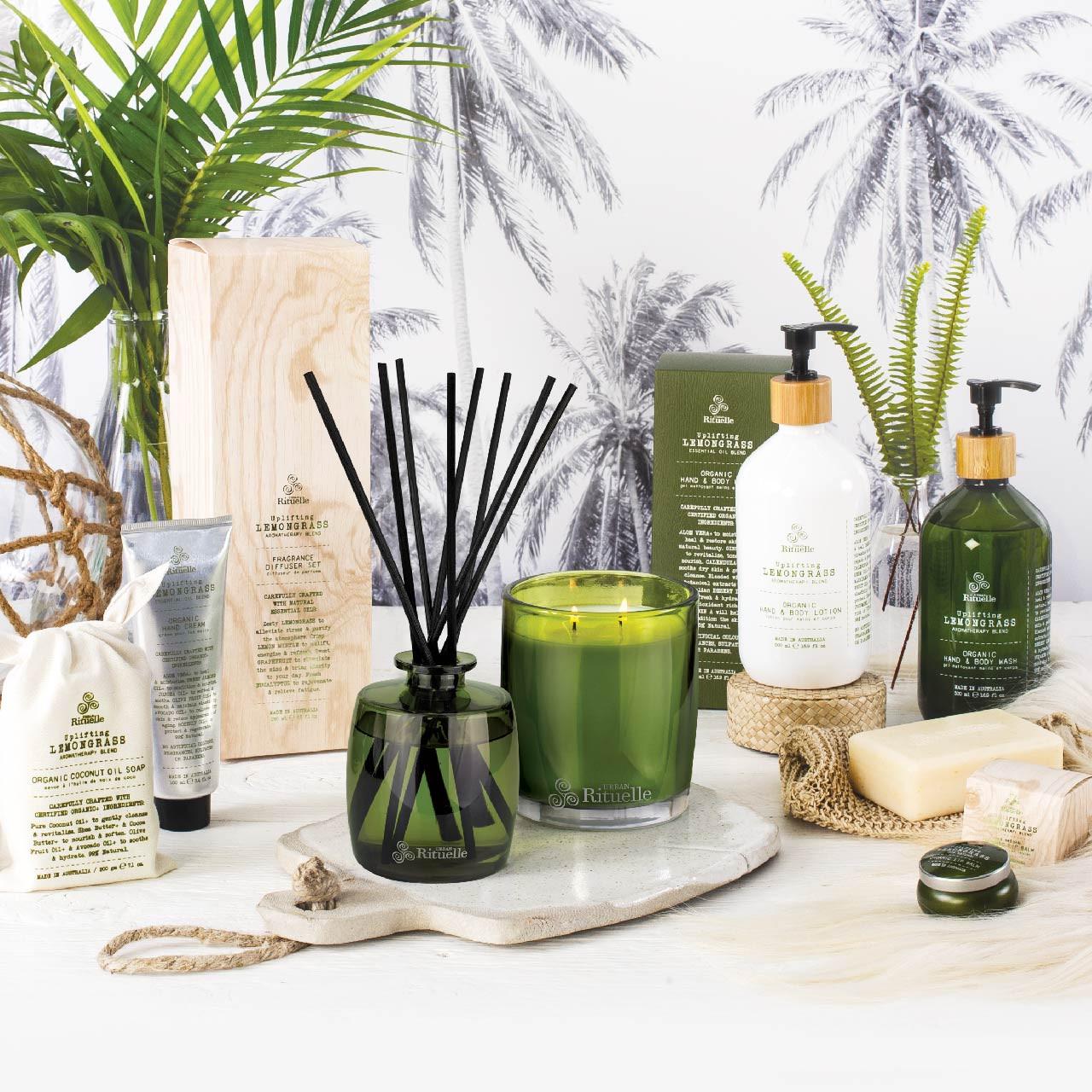 Flourish Organics - Fragrance Diffuser Set - Lemongrass - Urban Rituelle