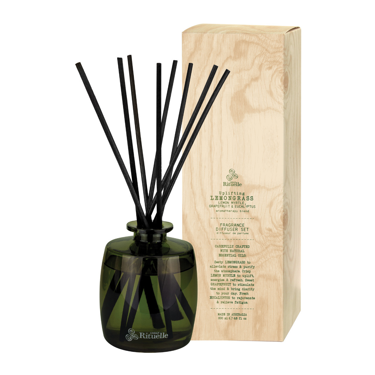 Flourish Organics - Fragrance Diffuser Set - Lemongrass - Urban Rituelle
