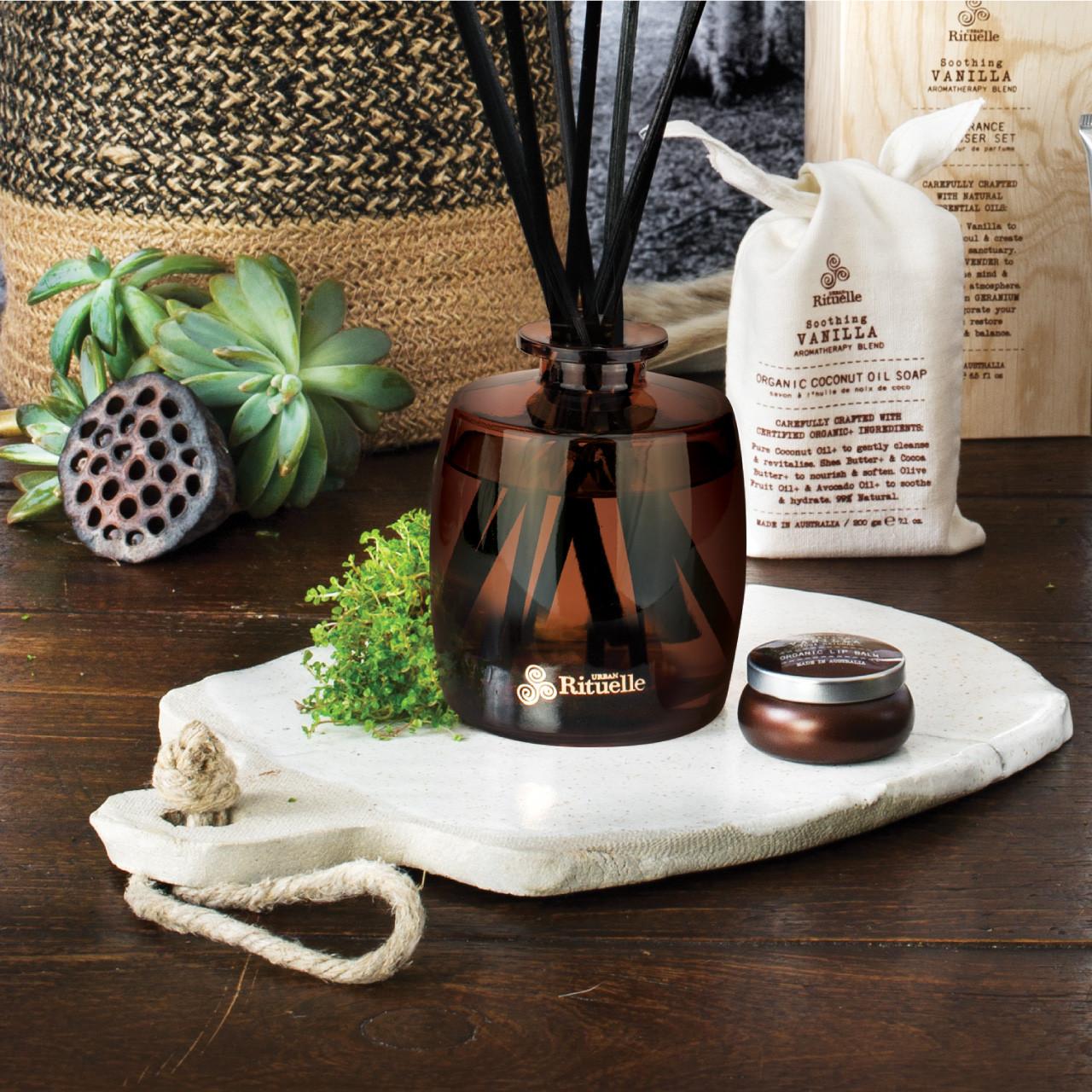 Flourish Organics - Fragrance Diffuser Set - Vanilla - Urban Rituelle