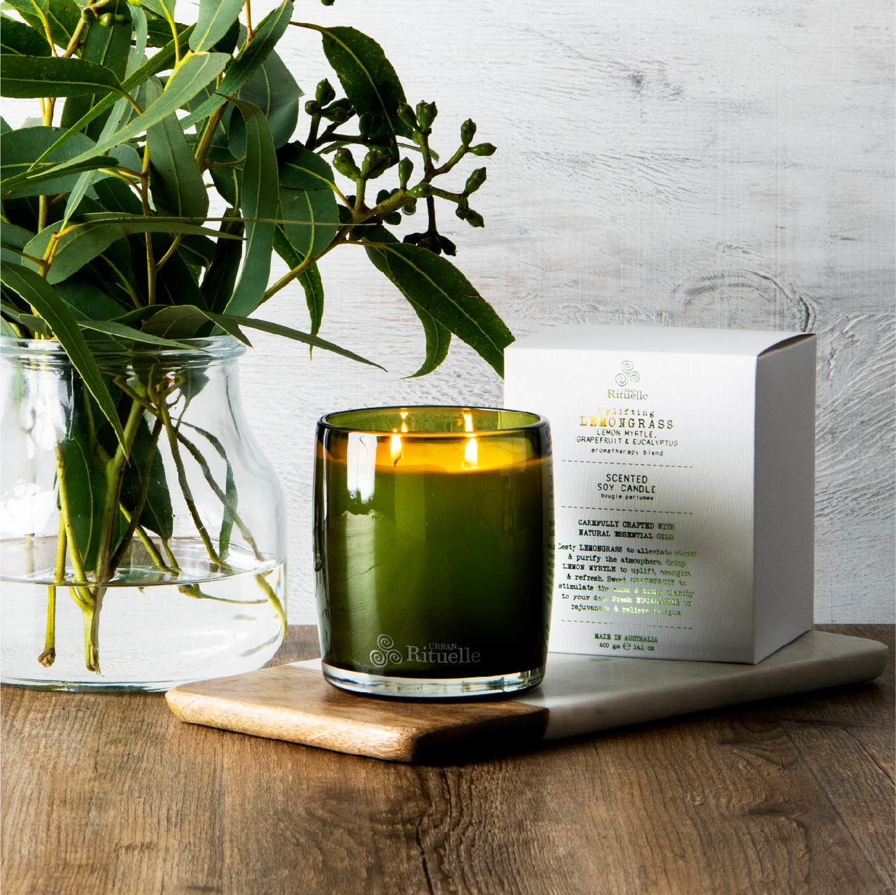 Flourish Organics - Scented Soy Candle - Lemongrass  - Urban Rituelle
