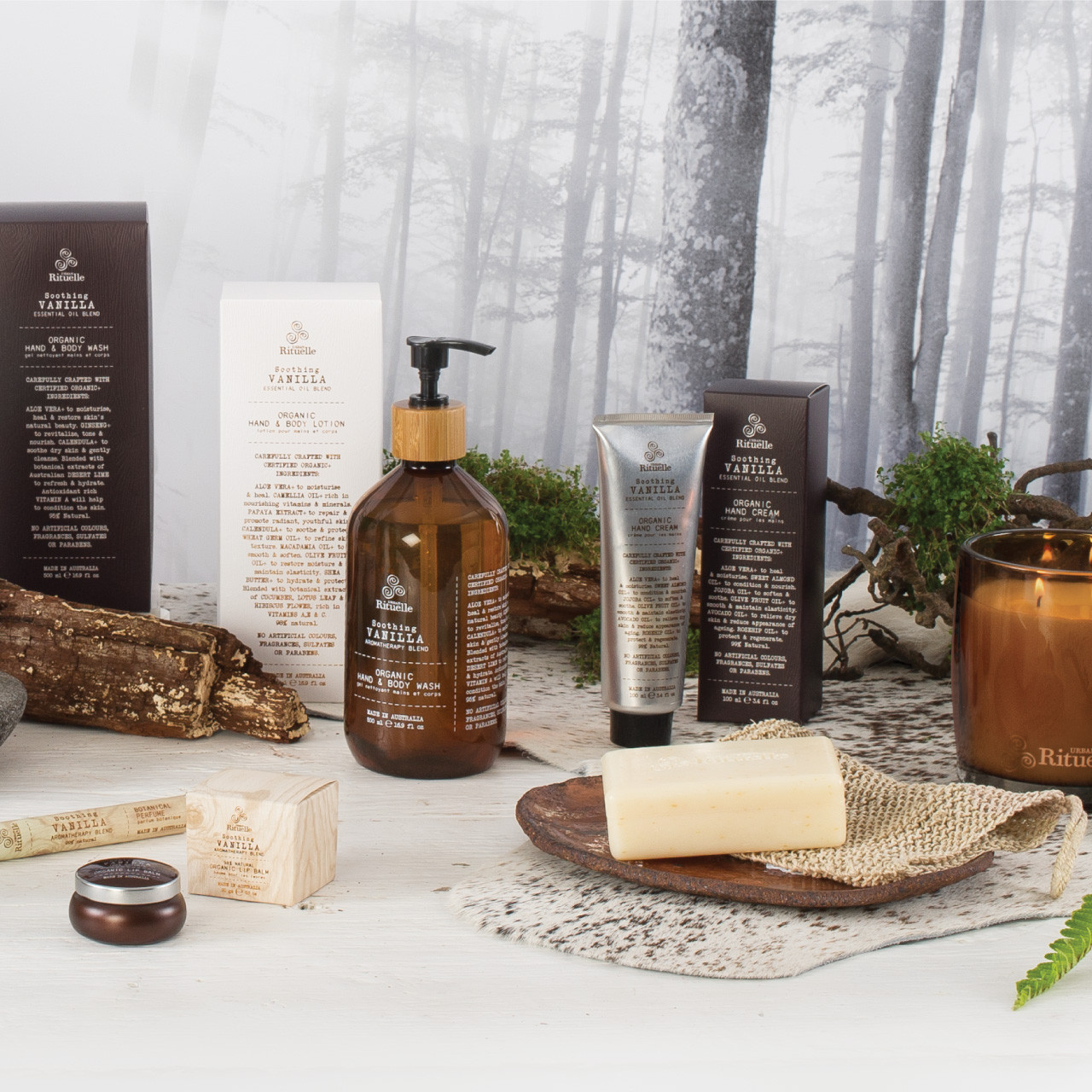 Flourish Organics - Scented Soy Candle - Vanilla  - Urban Rituelle